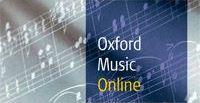 Oxford Music Online database logo.